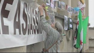 قوى اليسار الفرنسي تشارك باعتصامات تدعم الثورة السورية