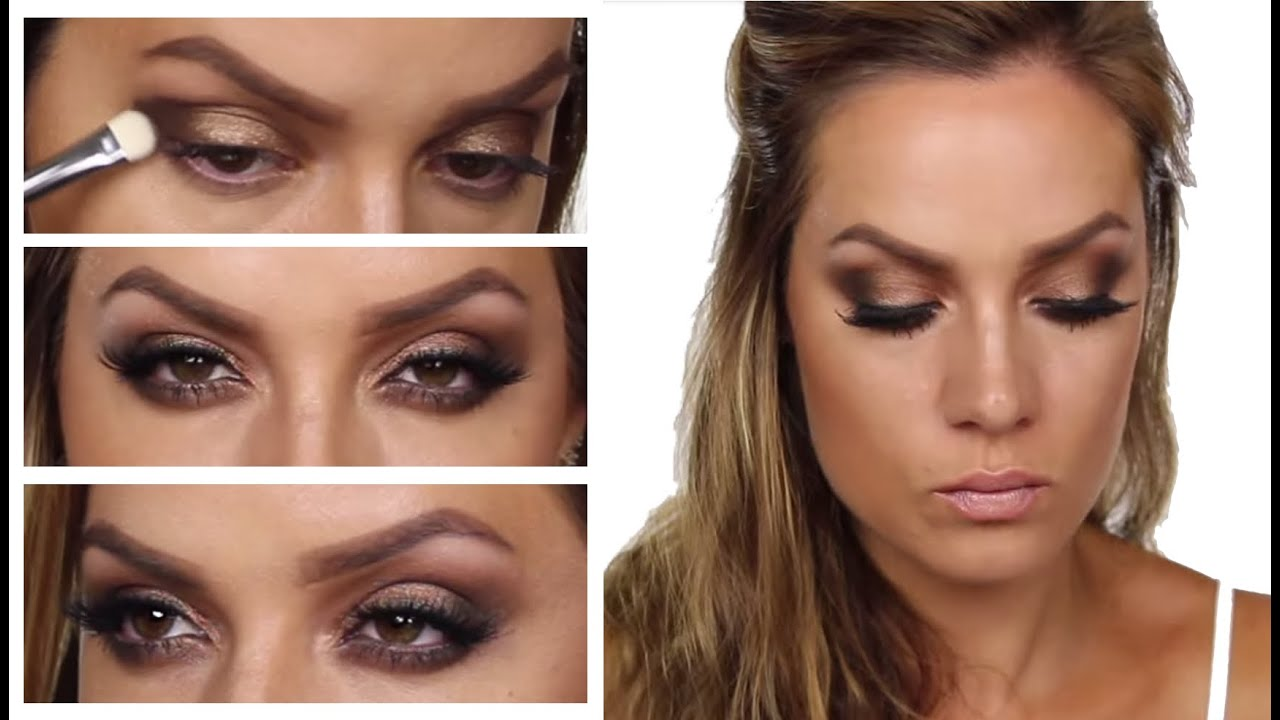bronzed eyes for bronzed skin rihanna inspired makeup