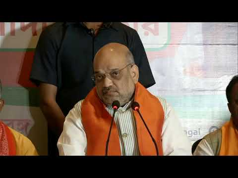 Press conference by Shri Amit Shah in Kolkata, West Bengal : 22.04.2019