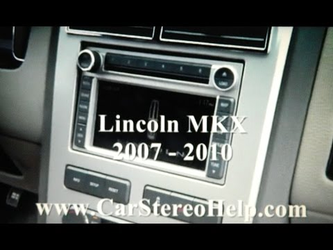 How to Lincoln MKX car Stereo navigation Screen cd Removal 2007 - 2010 replace