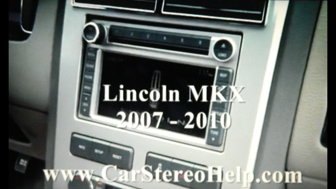 how to lincoln mkx car stereo navigation screen cd removal 2007 2010 replace [ 1280 x 720 Pixel ]