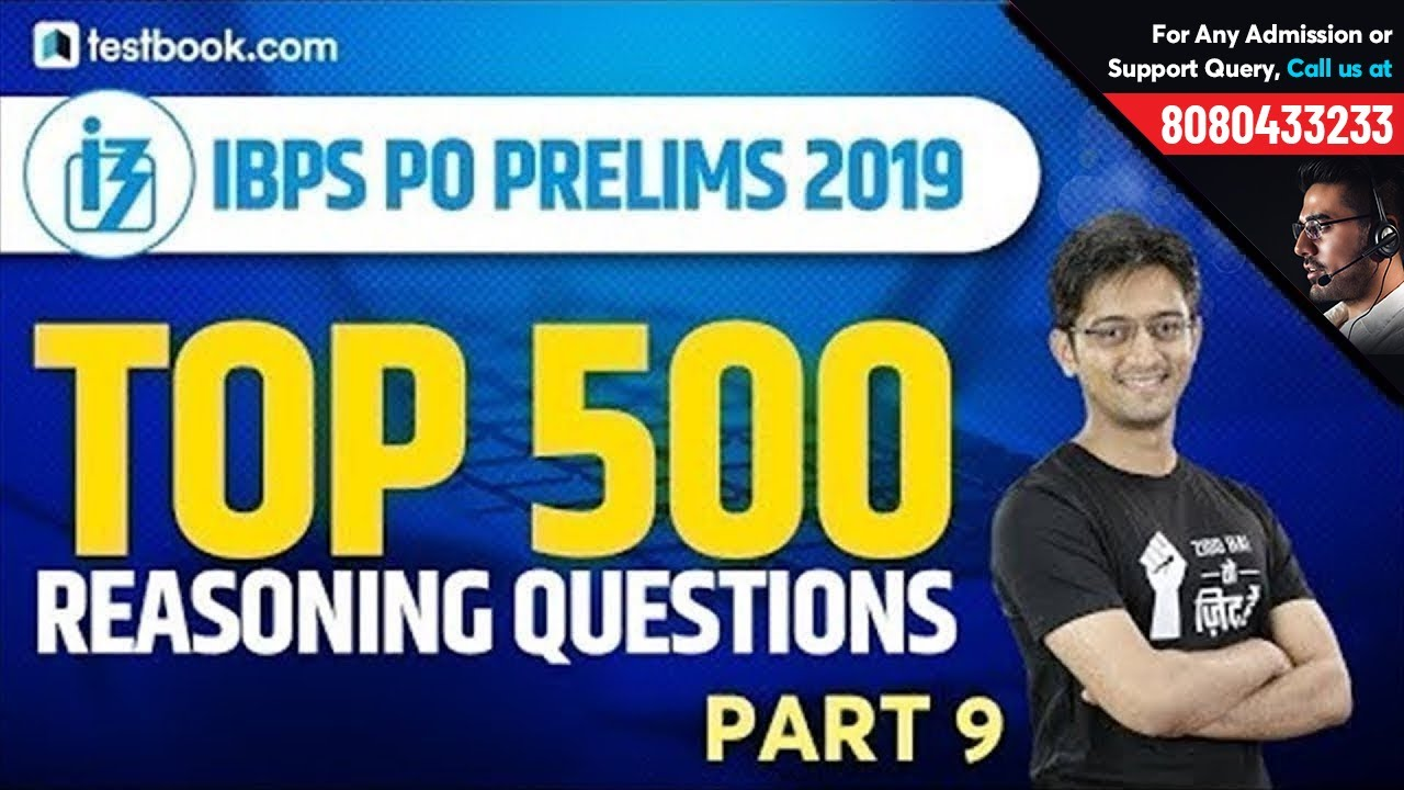 Top 500 Reasoning Questions for IBPS PO Prelims | Part 9 | Crack IBPS PO | Reasoning by Sachin Sir