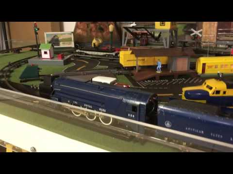 Operating Session: Train From American Flyer Catalog Set 48T ROYAL BLUE  FREIGHT TRAIN: 1948
