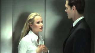 Hot blonde seduces man in elevator