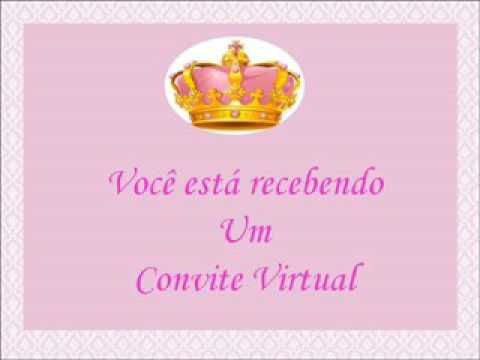 Convite Virtual De 1 Aninho Tema Princesa Youtube