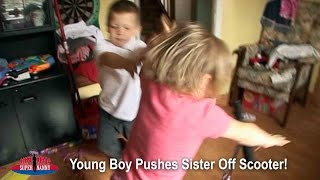 Young Boy Pushes Sister Off Her Scooter! | Supernanny UK