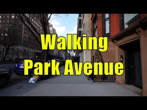 ⁴ᴷ Walking Tour of Upper East Side & Carnegie Hill, Manhattan, NYC - Park Avenue