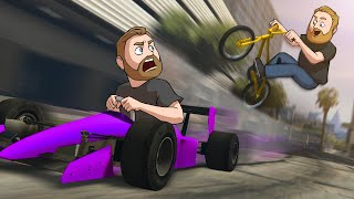 Dodge The F1 Car Challenge! | GTA5