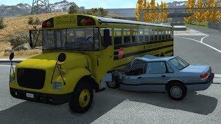 School Bus Crashes 12 | BeamNG.drive
