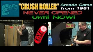#1007  NEW IN CRATE 1981 CRUSH ROLLER Arcade Video Game UNPACKED! TNT Amusements