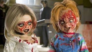 Куклы из фильмов: Чаки, Заклятие, Проклятие Аннабель, Пила, Мёртвая тишина. Прикол