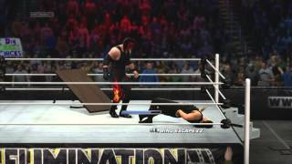 WWE2K14 - Roman Reigns vs Kane in a Flaming Tables Match