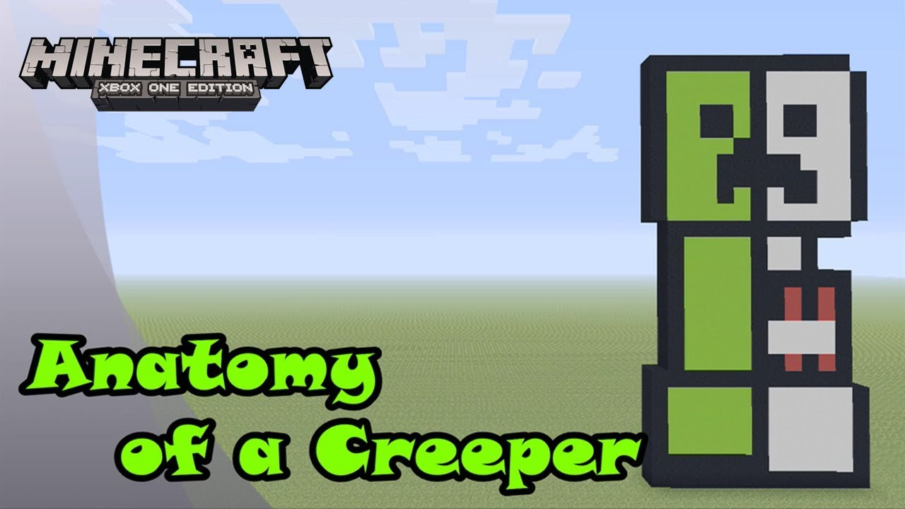 Minecraft Pixel Art Tutorial And Showcase Anatomy Of A Creeper