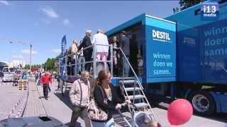 Tilburgse transportsector laat zich zien op zonnig industrieterrein Katsbogten.