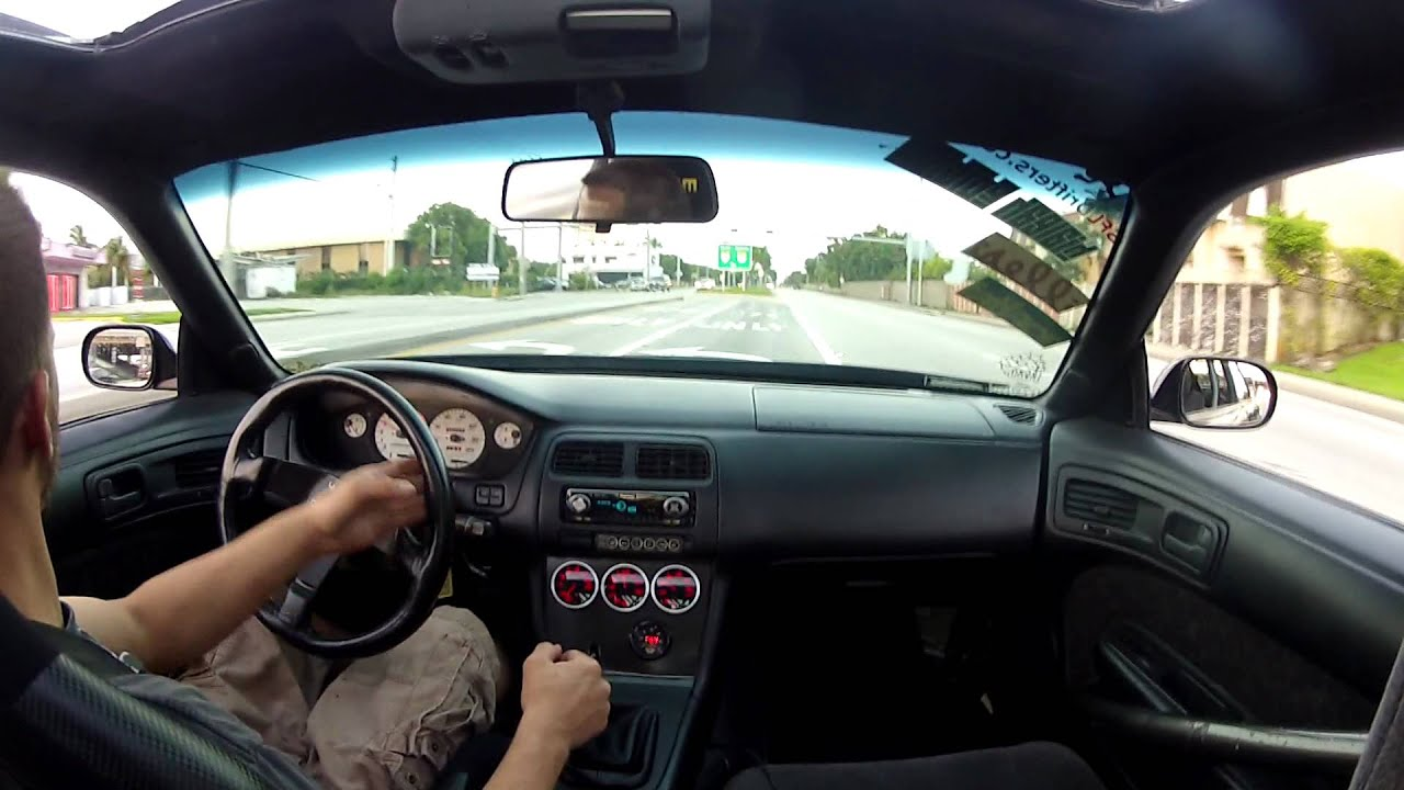 Supercharged V8 240sx On Ramp Fun