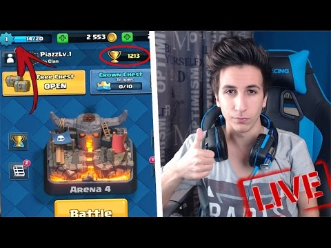 ACCOUNT LIVELLO 1 VERSO LE 3000 COPPE IN LIVE | CLASH ROYALE ITA