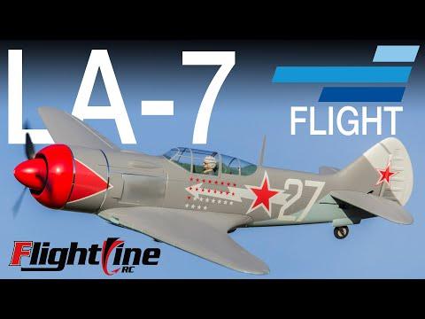 FlightLine La-7 1100mm RC Warbird - Motion RC Flight