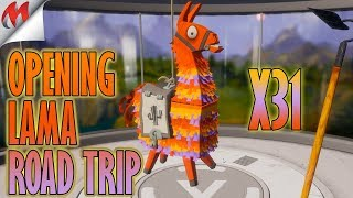 [FORTNITE-SAUVER THE WORLD] OPENING 31 LAMAS ROAD TRIP, LEGENDARY HEROS?