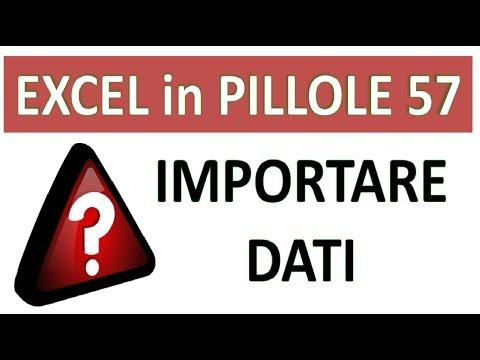 EP57 Come importare e sincronizzare dati da EXCEL da TESTO da ACCESS verso EXCEL