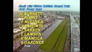 1986 Shell Oils British 500cc Motorcycle Grand Prix