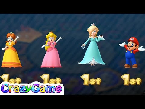 Mario Party 10 Coin Challenge #21 Daisy vs Peach vs Mario vs Rosalina Gameplay (2 Player)