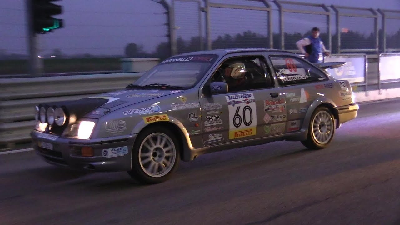 Ford Sierra Cosworth Gr A Rally Night Show Smoking Tires Flames