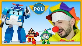 Robocar Poli & Funny Clown | Clown Bob Fake Sick - Poli Helli Roy rescue Clown | Video for Kids