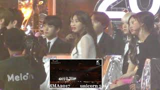 BTS reaction to MeloMance @MNA2017
