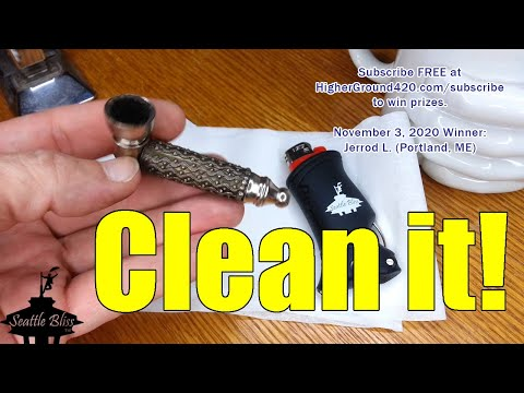 How to clean a metal cannabis taster pipe