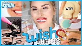 Trying WISH APP Beauty Gadgets 😫💬 Butt Implant Undies, Veneers & MORE!