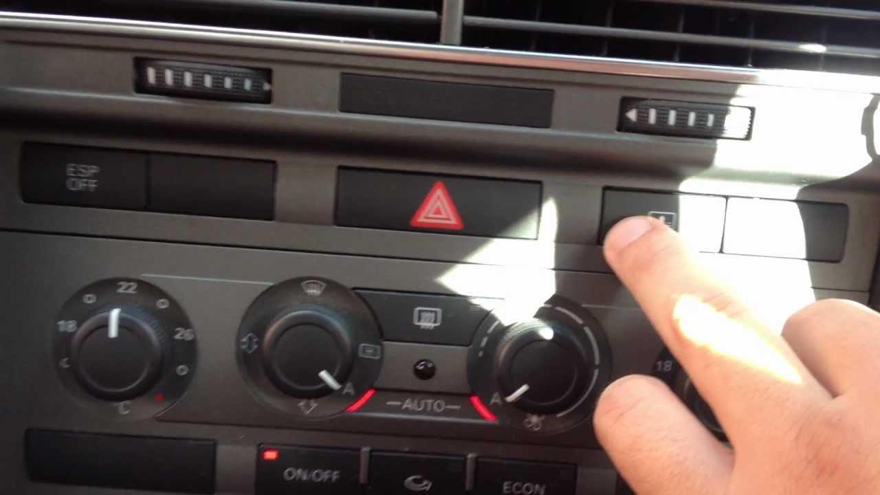 Audi A6 2006 Power Rear Sun Shade Sun Blind Youtube