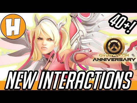 Overwatch - ALL NEW Anniversary Interactions (40+!) | Hammeh