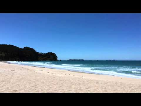 One hour relaxing video of Onemana Beach, New Zealand, [iPhone 6s, 4K]