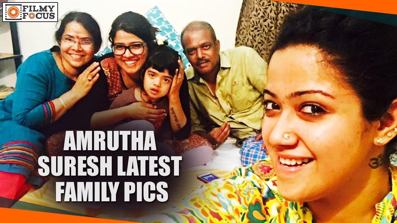 Amrutha Suresh Latest Family Pics - Filmyfocus com