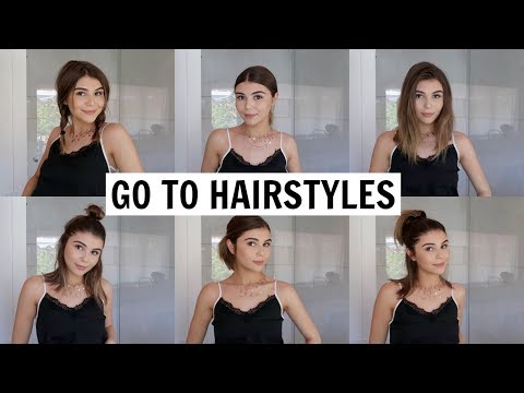 9 Easy & Heatless Hairstyles for Short Hair! l Olivia Jade