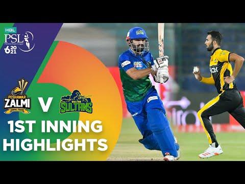 1st Inning Highlights   Peshawar Zalmi vs Multan Sultans   Match 5   HBL PSL 6   MG2T