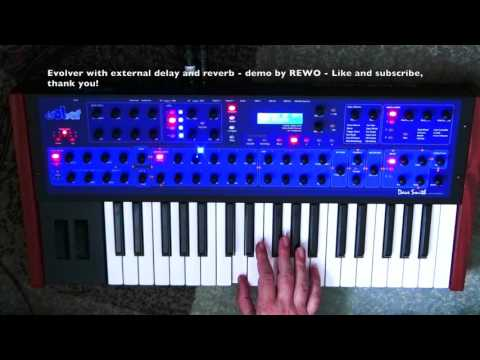 Dave Smith Evolver - sounds with stereo delay and vintage reverb 1080p