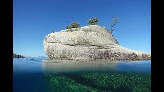 Bonsai Rock Lake Tahoe Aerial And Underwater Views
