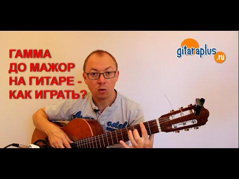 Гамма До мажор на гитаре (двухоктавная)   Александр Фефелов