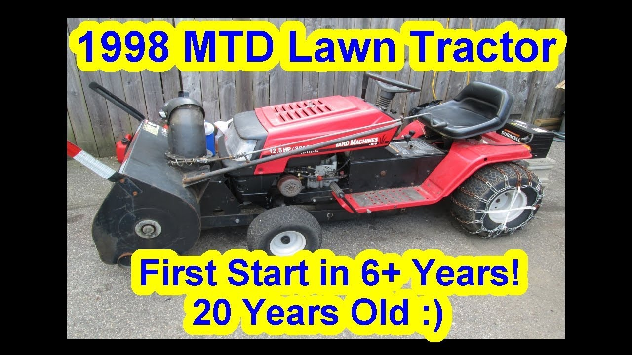 1998 20 years old mtd yard machine riding lawn tractor first mtd yard machine lawn tractor 20 5 hp starting wiring [ 1280 x 720 Pixel ]