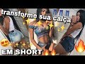 Carla Borges Youtube Channel in transforme sua CALÇA JEANS EM SHORTS Video on substuber.com