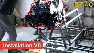 Fabrication d'une GT40 - Installation du V8 - GT40 project #18