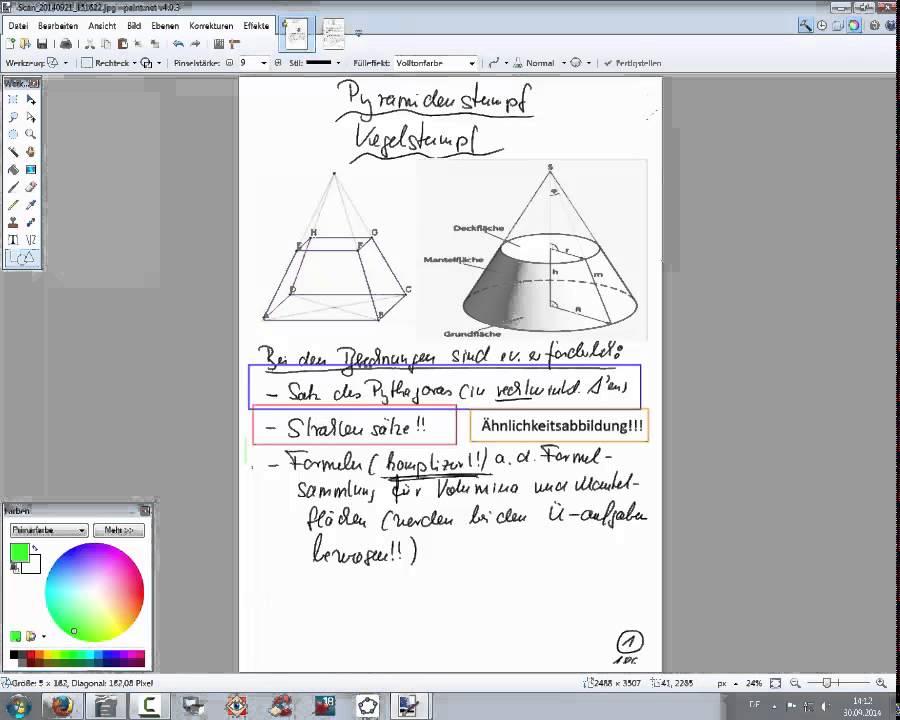 186 pyramidenstumpf kegelstumpf erl uterungen und aufgaben youtube. Black Bedroom Furniture Sets. Home Design Ideas