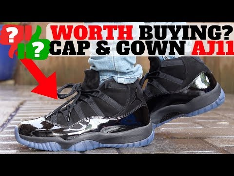 timeless design 376e6 e8076 WORTH BUYING? $250 AIR JORDAN XI 'CAP AND GOWN' REVIEW ...