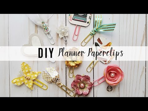 DIY Planner Paperclips or Planner Clips Tutorial