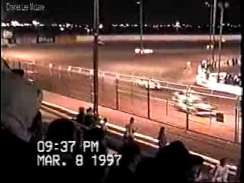 Mar 8 1997 Charles McLane car 50  heat race #2 Manzanita Speedway Phil Hertel on the mic