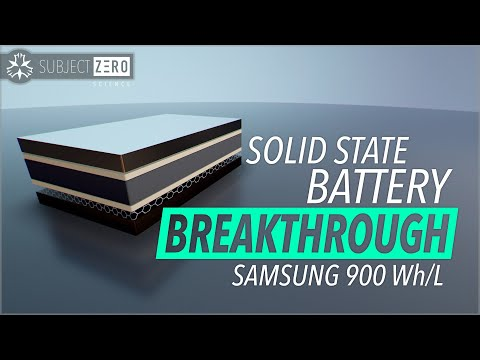 Breakthrough Solid State Battery - 900 Wh/L Samsung [2020]