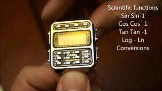 CASIO CFX-200 Scientific calculator watch(Short video about this watch, from 1983, having all the basic operations plus a lot of scientific functions. Sold for $79 at that time., 2015-10-27T05:03:48.000Z)