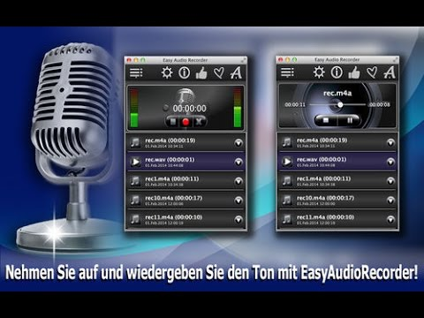 Easy Audio Recorder: Aufnahme In M4A, AIFF, WAV, CAF-Audioformate