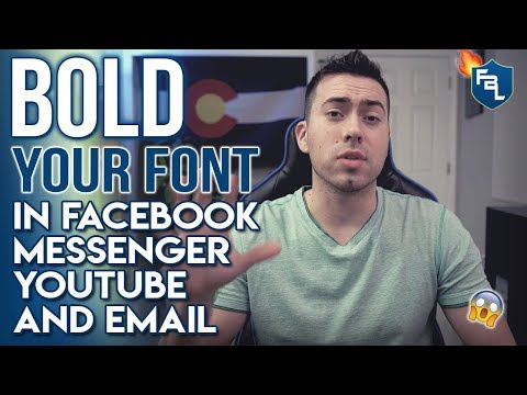How To Bold And Italicize Your Font For Facebook And Messenger